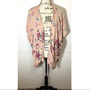 Angie Open Cardigan Floral Dolman Sleeve
